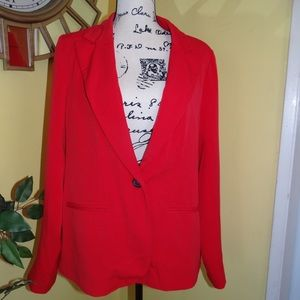 FOREVER 21 PLUS SIZES XL WOMEN BLAZER COLOR RED